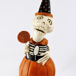 Dead Day Skelly-In-A-Pumpkin by David Everett