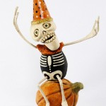 Dead Day Skelly-On-A-Pumpkin by David Everett