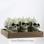 Skull Head Candles Set of 6