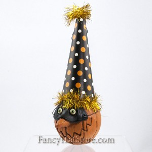 Masked Pumpkin Head Ornament C by David Everett