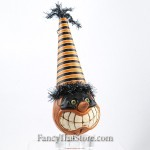 Masked Pumpkin Head Ornament B by David Everett
