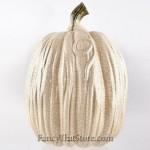 Cream Ceramic Pumpkin w Long Stem