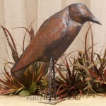 Metal Folk Art Crow