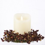 Berry Candle Ring Green/Red Small