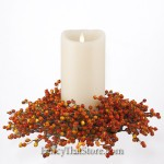 Berry Candle Ring Harvest Orange Large