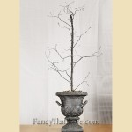 Twisted Wire Tree in Black Urn