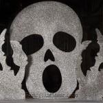 Silver Glittered 3D Skull Large