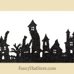 Haunted House Glittered Silhouette