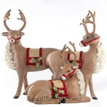 Das Reindeer by Deborah Graham Set of 3