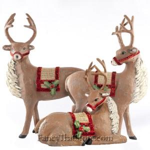 Das Reindeer by Deborah Graham Set of 3