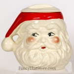 "This ""Rosey Cheeks"" Santa Cookie Jar was made by Stanford Ware Pottery. There aren't any chips, cracks or other major flaws. 9 x 9 x 8 in."