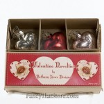 Mercury Glass Heart Ornaments in Box by Bethany Lowe - Set of 3