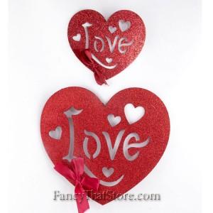 Glittered Love Hearts – Set of 2