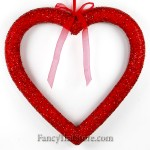 Glittered Red Heart Ornament 20 Inches