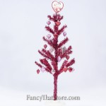 Red Tinsel Tree - 30""