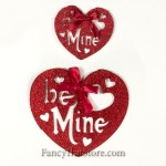 Glittered Be Mine Hearts - Set of 2