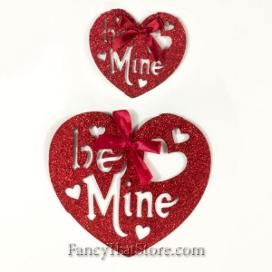 Glittered Be Mine Hearts – Set of 2