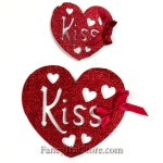 Glittered Kiss Hearts - Set of 2