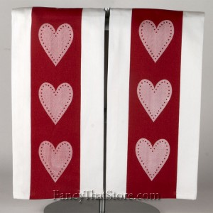 Red Heart Kitchen Towel Set of Two
