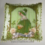 St Patrick's Day Lass Pillow by Tina Haller