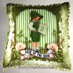 Luck of the Irish Lad Pillow by Tina Haller