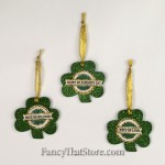 Shamrock Ornaments by Heather Myers Set of 3
