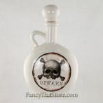 White and Brown Bottle w Skull and Cross Bones