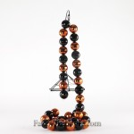 Black and Orange Bead Garland