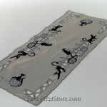 Scary Black Cats Table Runner