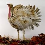 Antiqued White Metal Turkey