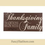 Thanksgiving Traditions Wood Tile