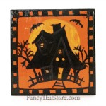 Haunted House Wood Tile by Christopher James