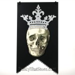 Royal Skull Banner Hanger by Heather Myers