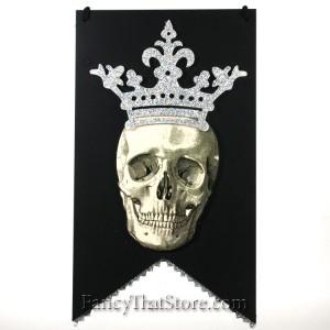 Royal Skull Banner Hanger by Heather Myers