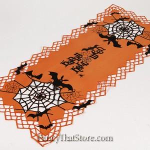 Spooky Webs Table Runner