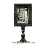 Beware Owl Shadow Box on Pedestal by Heather Myers