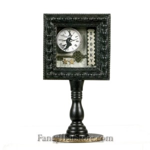 Spooky Witch Shadow Box on Pedestal by Heather Myers