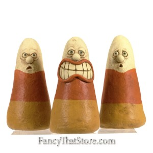 Candy Corn Characters By David Everett