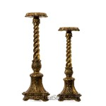 Antiqued Gold Candleholders