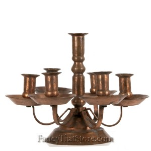 American Hand Wrought Copper Candle Holder