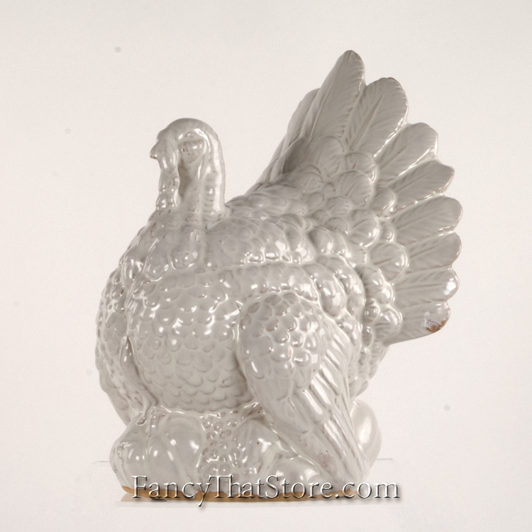 White ceramic turkey large — fancy that store