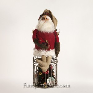 Birdcage Santa by Susan Brielmann