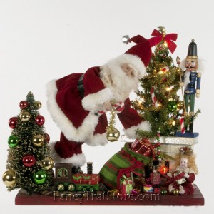 Leaning Santa by Christopher James
