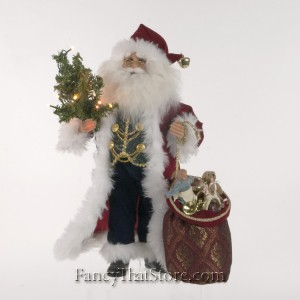 Lighted Traditional Santa by Karen Didion