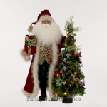 Santa with Lighted Tree by Karen Didion
