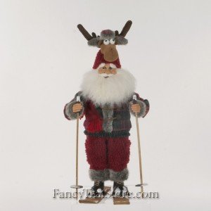 Moose Hat Ski Santa by Karen Didion