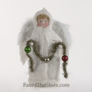 Angel Tree Topper with Ball Garland by Elaine Roesle