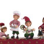 Christmas Elves by Karen Didion Set of 4