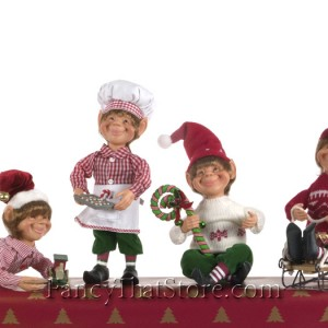 Christmas Elves by Karen Didion Set of 4