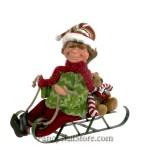 Elf on Sled by Karen Didion